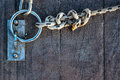 Rope and Chain in Dock Royalty Free Stock Photo