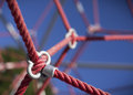 Rope on a child climbing frame Royalty Free Stock Image