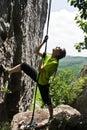 Rope climbing Royalty Free Stock Photo