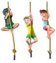 Rope climbing children