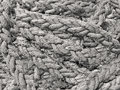 Rope closeup of a cotton fiber vintage drifted Royalty Free Stock Photos