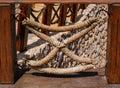 Rope frame element fence Royalty Free Stock Photo