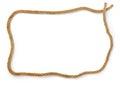 Rope frame on white background Royalty Free Stock Photos