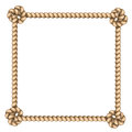 Rope frame on white background vector illustration Royalty Free Stock Photography