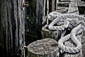 Rope in harbor Royalty Free Stock Photo