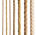 Rope isolated collection of different ropes on white background Royalty Free Stock Photos