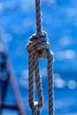 Rope with a knot Royalty Free Stock Photos