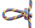 Rope with knot Stock Images