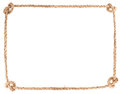 Rope knot frame solated on white background Royalty Free Stock Photos