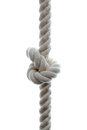 Rope knot tied on a isolated on white Stock Photography
