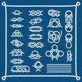 Rope knots vector illustration. Royalty Free Stock Photo