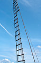 Rope ladder of the ship on blue sky background Royalty Free Stock Photos