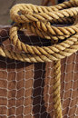 Rope and Net Stock Image