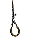 Rope noose hanging in