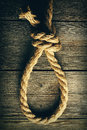 Rope noose with knot Royalty Free Stock Photo