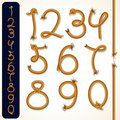 Rope Numbers Royalty Free Stock Photography