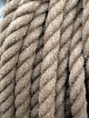 Rope old sailing ship texture suitable as background Stock Photography