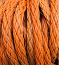 Rope orange in closeup detail Stock Photography