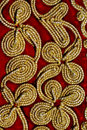 Rope pattern on red fabric Stock Photos