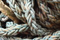Rope a photograph of thick industrial Royalty Free Stock Photo