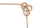 Rope with sailor's knot tied Royalty Free Stock Photo