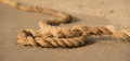 Rope on a sand Royalty Free Stock Photo