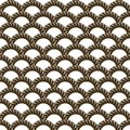 Vector seamless grey pattern with rope Symmetrical background Graphic illustration. Template for wrapping, backgrounds, fabric, pr