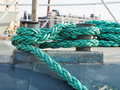 Rope of a ship Royalty Free Stock Photo