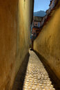 Rope street in Brasov Stock Images