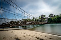 Rope Suspension Bridge Palawan Beach Sentosa Singapore Royalty Free Stock Photo