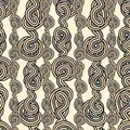 Rope tangled seamless pattern knots bundle abstract Royalty Free Stock Photos