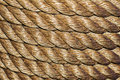 Rope tidy and organized wound Stock Image