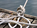 Rope Tied Up At Dock Royalty Free Stock Image