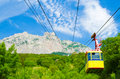 Rope-way on mountain Stock Photography
