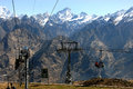 Rope way th april auli uttarakhand india asia auli boasts the asia's highest and longest cable car covering a distance of km Stock Photography