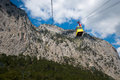 Rope way in yalta vacation spring Royalty Free Stock Photography