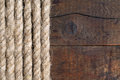 Rope And Wood Royalty Free Stock Photo