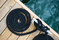Rope of yacht Stock Photography