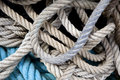 Ropes background of strings and Royalty Free Stock Photos