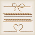 Ropes and bow Stock Image