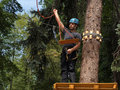 Ropes course Royalty Free Stock Photo