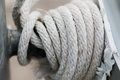 Ropes flags closeup spinning in a circle Royalty Free Stock Photo