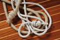Ropes with knots Stock Image