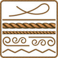 Ropes and knots Royalty Free Stock Images