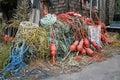 Ropes at lobster shack Royalty Free Stock Photo