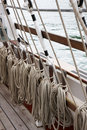 Ropes and Rigging on an old sail ship Royalty Free Stock Photo