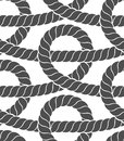 Ropes seamless pattern Stock Photo