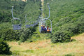 Ropeway in Jermuk Royalty Free Stock Photo