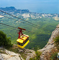 Ropeway in mountain ai petri creamea ukraine Royalty Free Stock Image