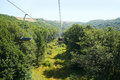 Ropeway mountain city jermuk armenia Royalty Free Stock Photography